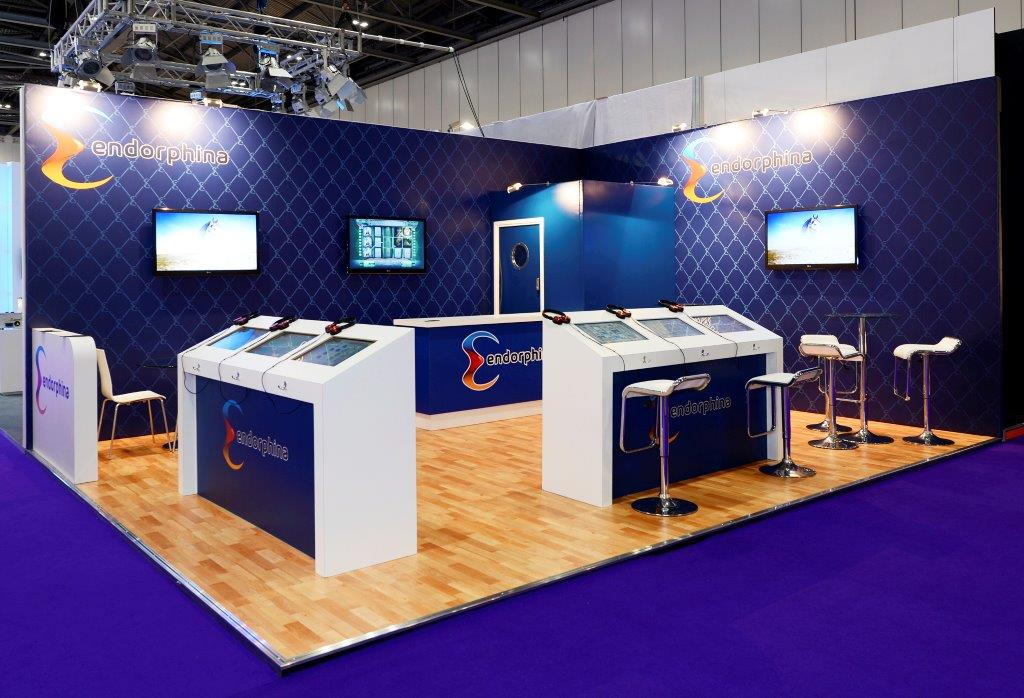 Exhibition Stand Fitting Jobs : Endorphina @ ice london expose designs : exhibition stands