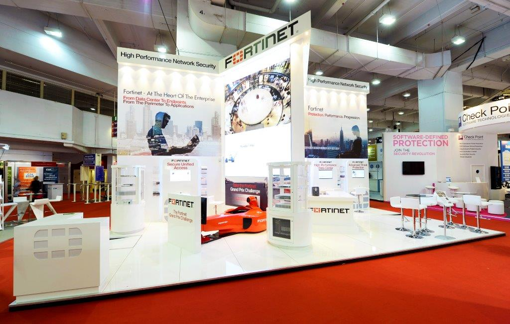 Exhibition Stand Fitter Jobs London : Fortinet infosecurity london expose designs