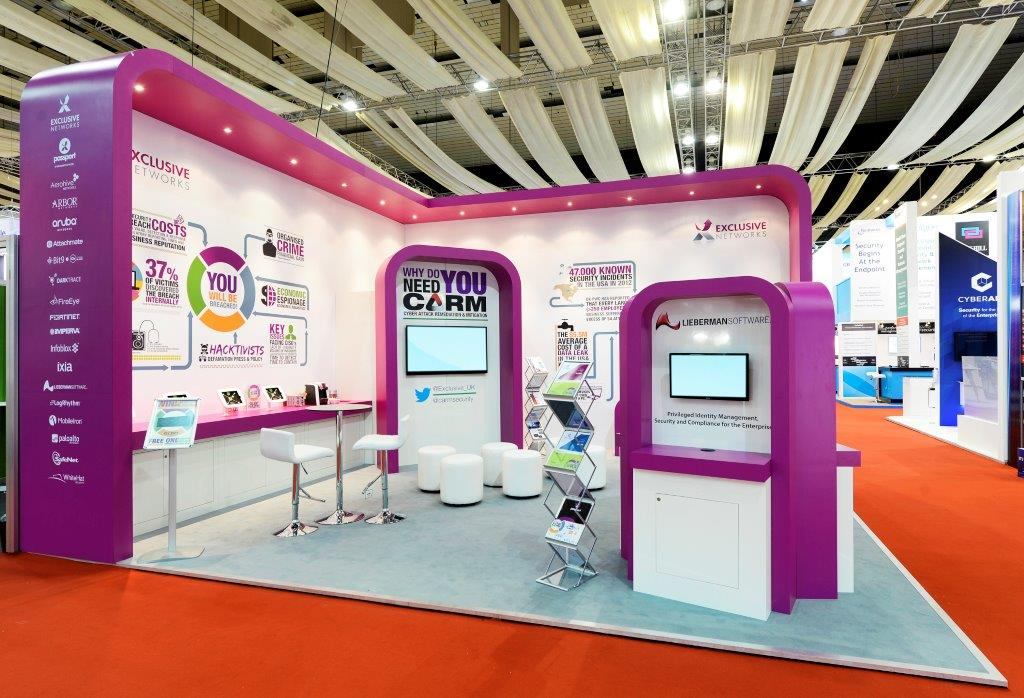 Exhibition Stand Fitter Jobs London : Exclusive networks infosecurity london expose designs