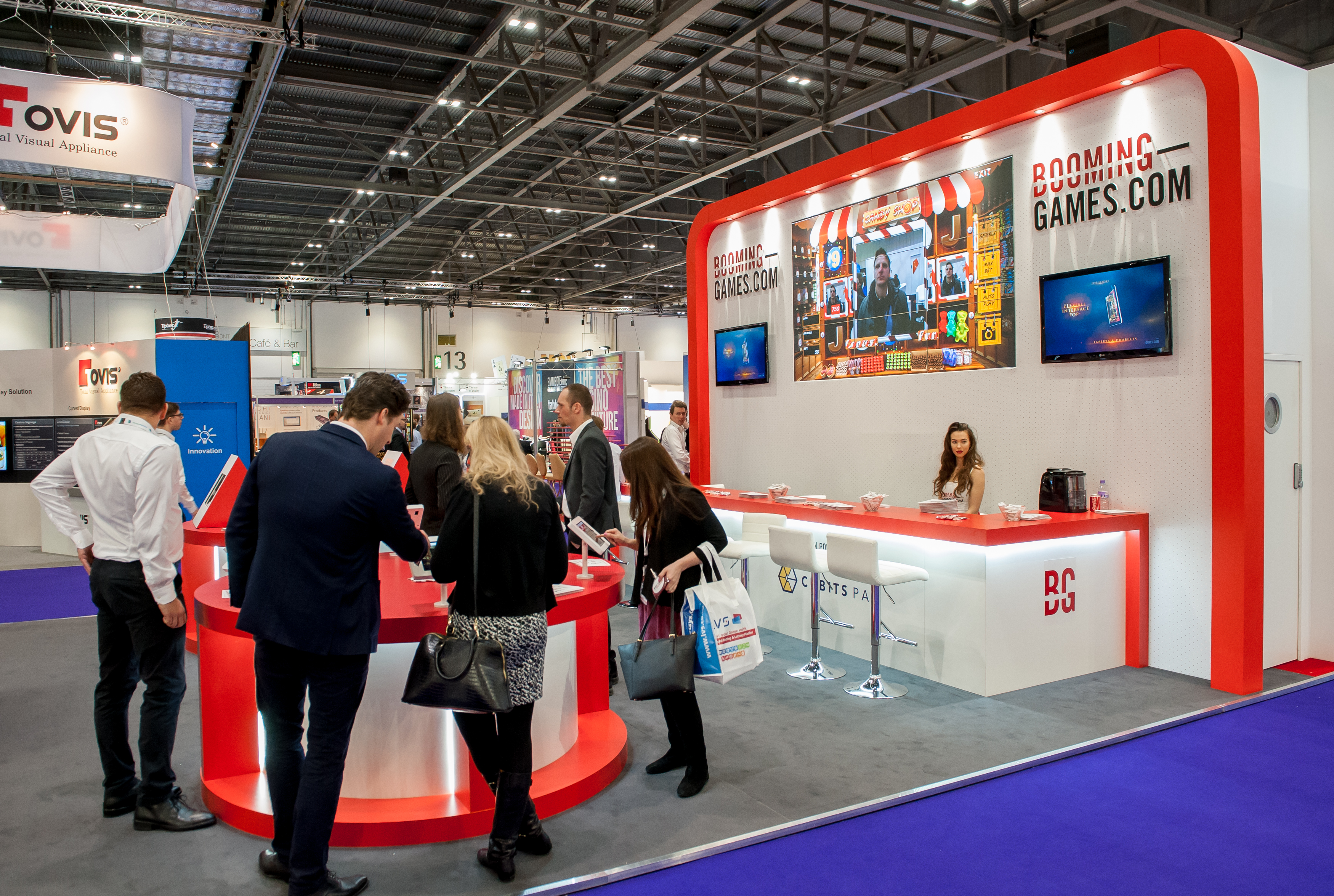 Exhibition Stand Fitting Jobs : Booming games @ ice expose designs : exhibition stands design