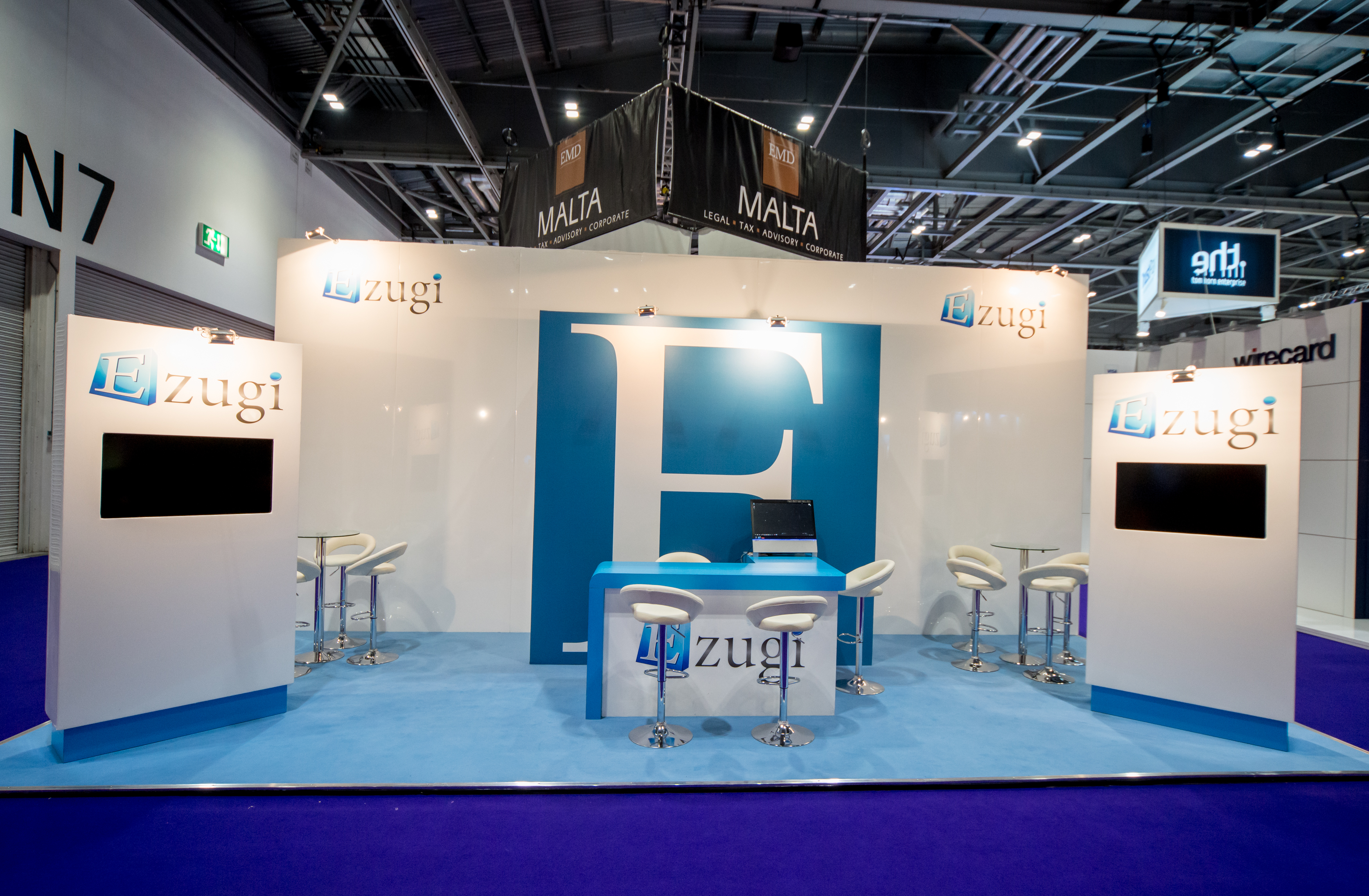 Exhibition Stand Fitters : Ezugi ice expose designs exhibition stands design