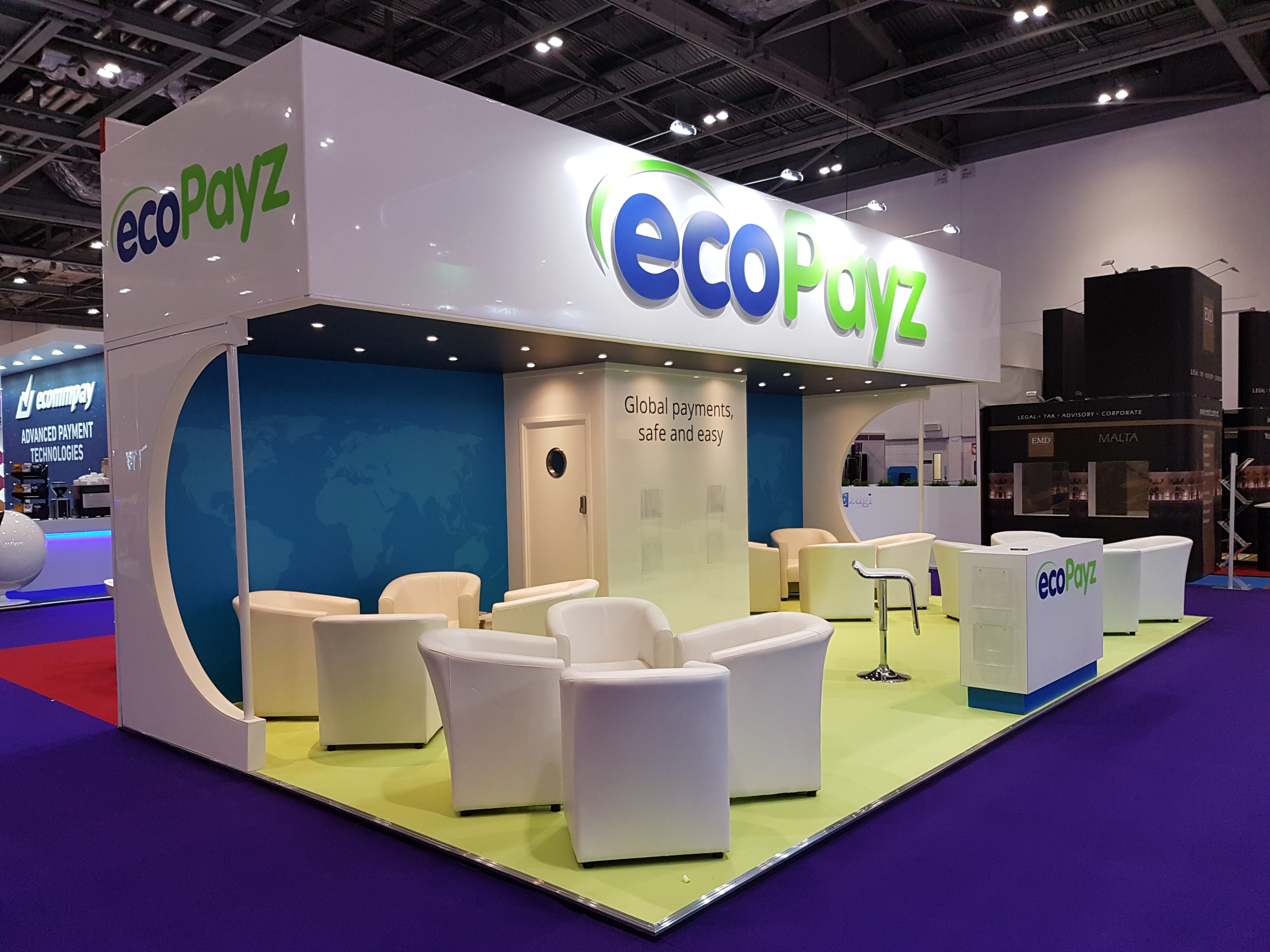 Exhibition Stand Fitter Jobs London : Ecopayz ice london expose designs exhibition stands