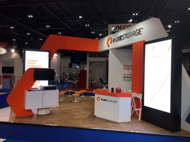 Exhibition Stand Design Europe : Pure storage @ cloud expo europe london expose designs